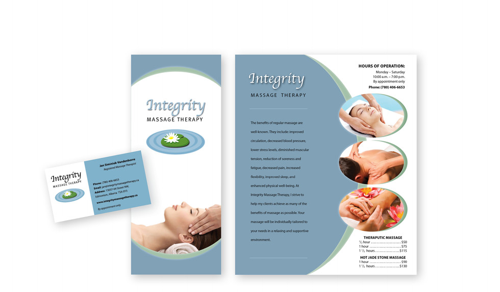 Massage Brochure and Business Card