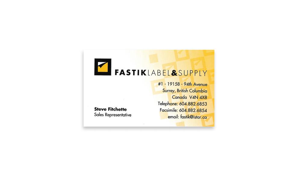 Fastik Business Cards