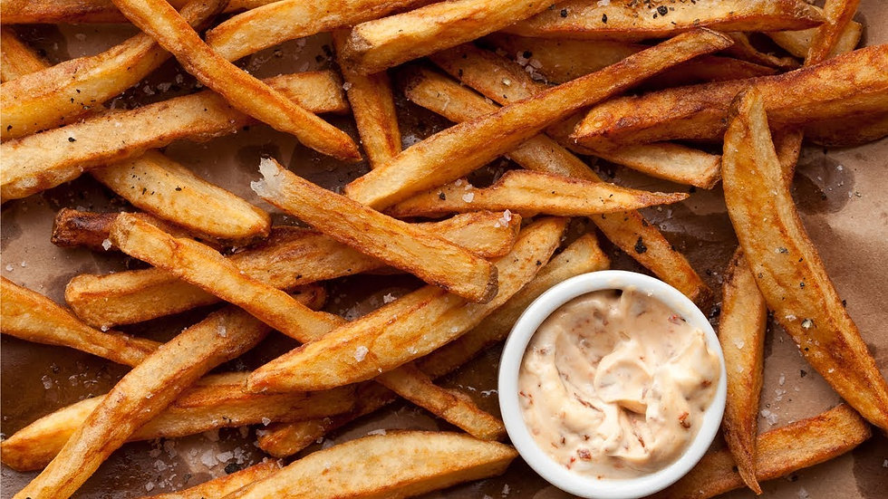 SHORT CUT SKIN ON RESTAURANT STYLE FRENCH FRIES