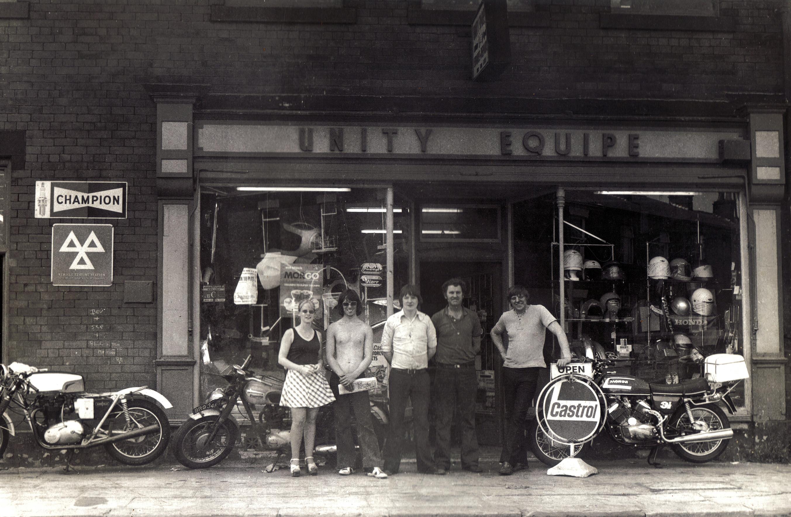 Unity Shop. Pete far Right.