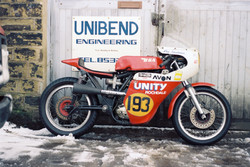 Ray's Unity B50 outside his Workshop