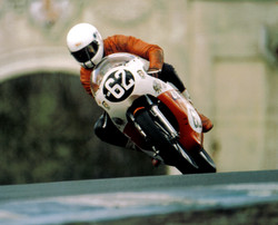 Ray on his Unity B50 at Oulton Park