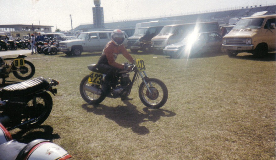 Ray on Ted Hubbards BSA B50, Daytona