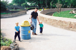 Ben, Ray and Tommy at Chester Zoo