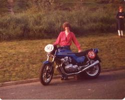 Wife Gail, stood with Rays New Honda