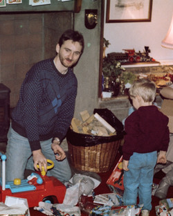 Ray and Ben, Dad and Me, at Grandads
