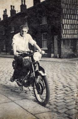 Pete's first bike, Bsa Goldstar