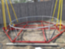 Батут кенгуру тарзанка 6 метров с электр