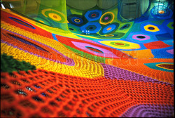 Веревочный вязаный лабиринт 04