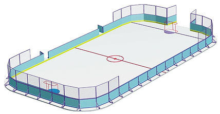 Хоккейна коробка из стеклопластика