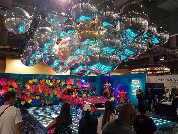 Зеркальные надувные шары декорация помещ