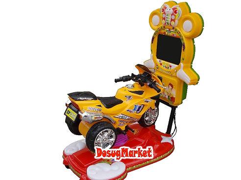 Детская электрокачалка с игрой мотоцикл