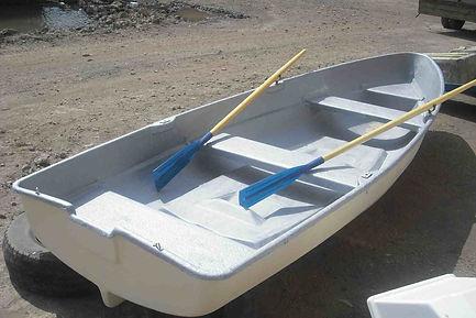 Лодка гребная стеклопластикова с мотором