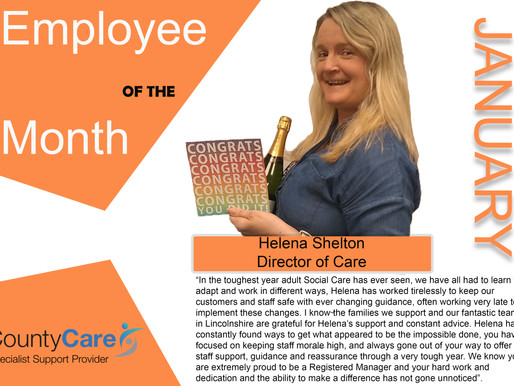 Congratulations Helena & Alex on becoming our first employee's of the month for 2021!