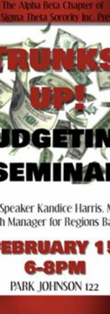 Trunks Up Budgeting Seminar