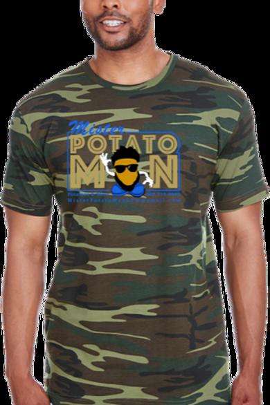 Camo Short Sleeve T-Shirt with Logo Center