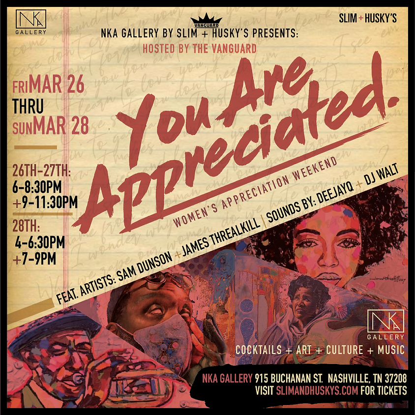 YOU ARE APPRECIATED! HOSTED BY VANGUARD