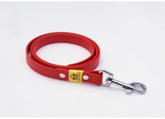 BioThane Leine rot ohne Handschlaufe 16mm 5m