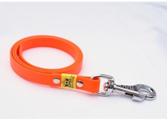BioThane Leine neon orange ohne Handschlaufe 16mm 5m