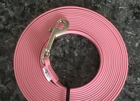 BioThane Leine rosa ohne Handschlaufe 0.9mm 6m