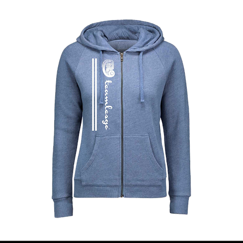 Team Les Go Zip Up Women Hoodie