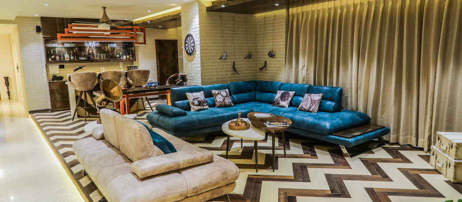 Contemporary Materials Blend Seamlessly with Antique Decor for this House in Nagpur