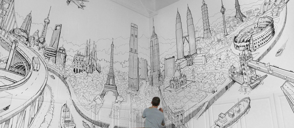 Magnificent Cityscape Murals by this Paris Based Artist will Leave you Filled with Wonder!