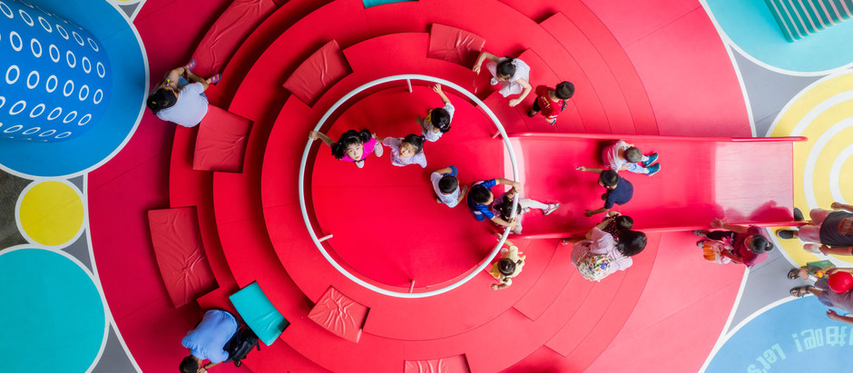 This Project Turns A Grey and Obsolete Space into an Eye-Catching, Bold and Vibrant Public Space