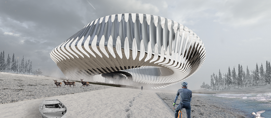 A Proposal for Oslo's First Möbius Museum of Design Floating in Space