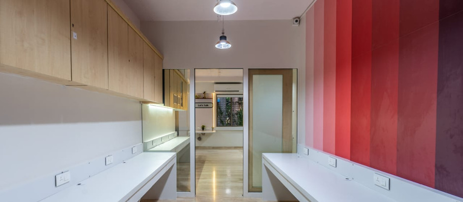 Monochrome Interiors Create a Minimal Backdrop for this Young, Vibrant and Quirky Office in Mumbai