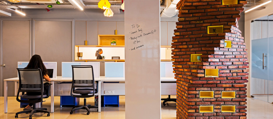 DNA Like Brick Columns Become The Star Attraction At This Office