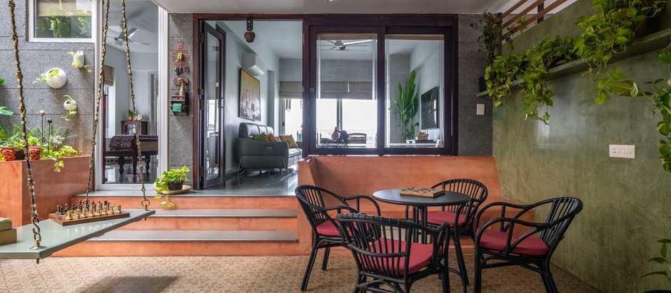 This Apartment in Hyderabad Features Antique Furniture and an Open to Sky Sit-Out