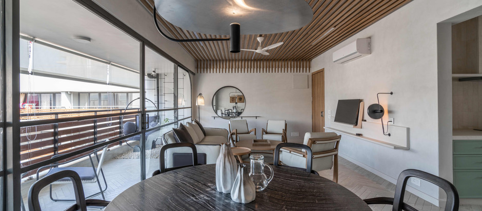 Scandinavian Decor Beautifully  Fills this Home in Ahmedabad