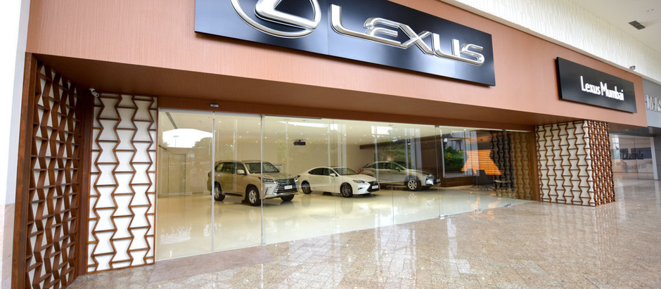 Elegant Surfaces and Intriguing Details Come Together for the New Lexus Showroom in Mumbai