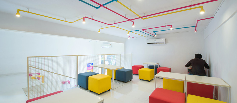 Bright Colors Find their Way into this Dessert Studio by Architecture Interspace