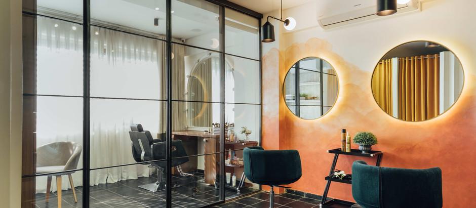 Coral Orange-Peach Backdrop Illuminates this Studio in Ahmedabad
