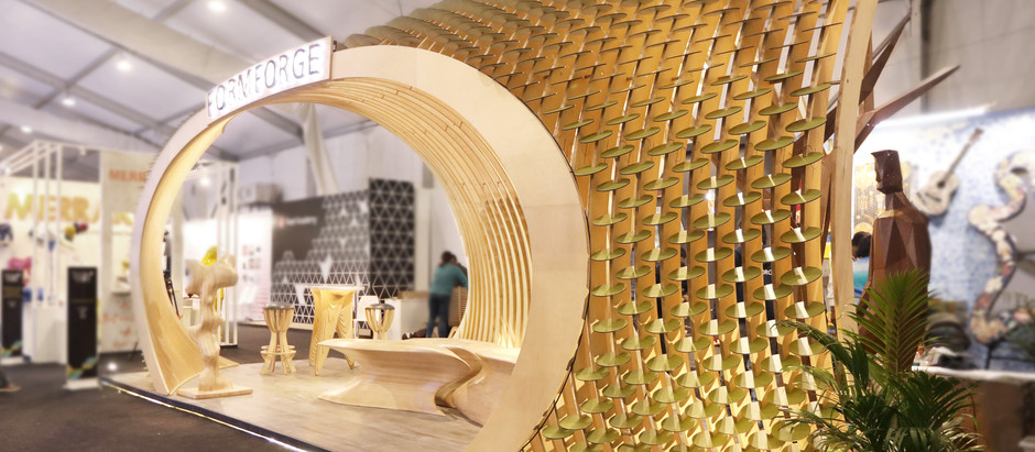 Leaf-Like Fins Become the Star-Attraction of this Exhibition Pavilion