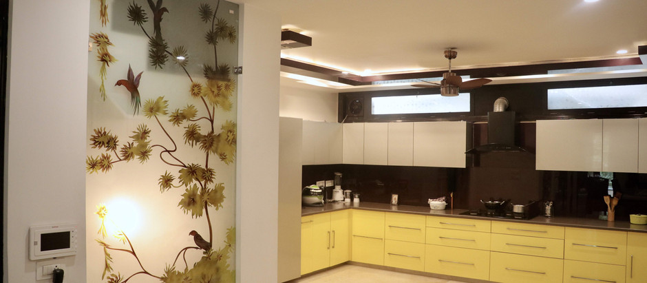 Derived by the Love of the Color Yellow, This Home is Wrapped Around Bold Colors and Patterns