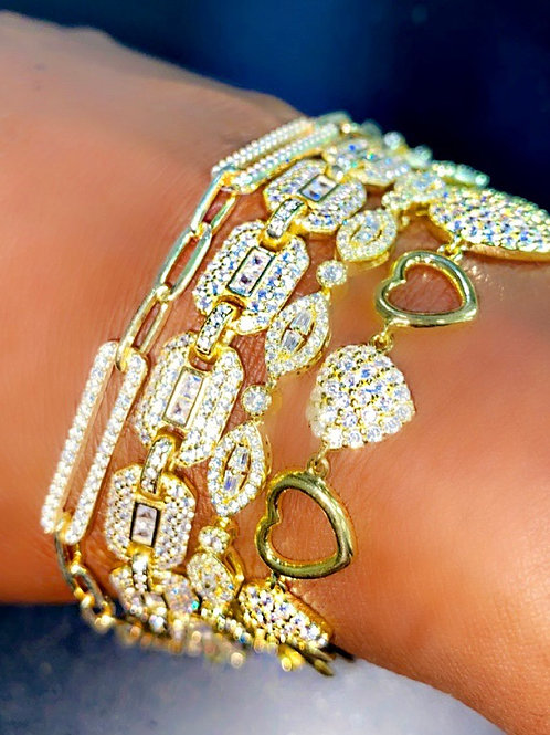 Golden Luxor Tennis Bracelets