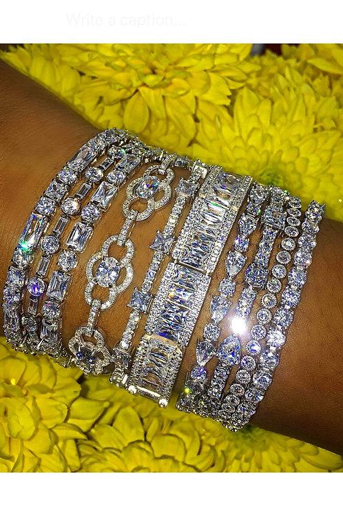 Sterling Silver Tennis Bracelets with Swarovski Crystal Stones