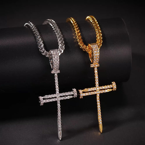 Nail Cross & Chain