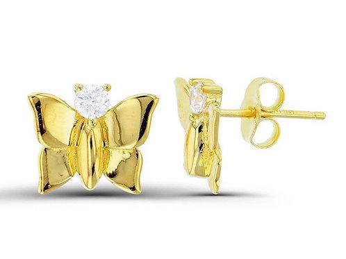 Mariah Butterfly Stud Earring