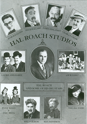 Postkarte: Hal Roach und seine großen Stars