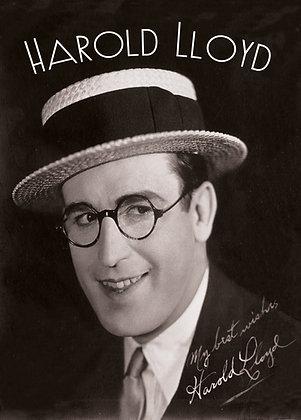 Postkarte: Harold Lloyd Autogramm