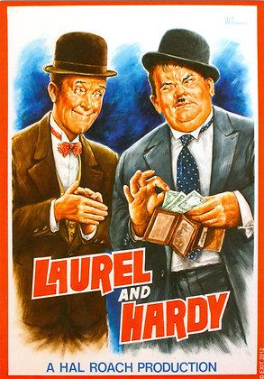 "Postkarte: ""Laurel & Hardy-Poster"""