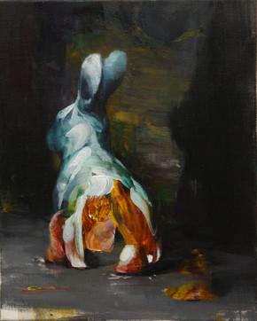 Kaninchen 50x40cm Öl auf Leinwand 2019