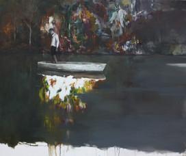 Spiegelung 180x160cm Öl auf Leinwand 2017