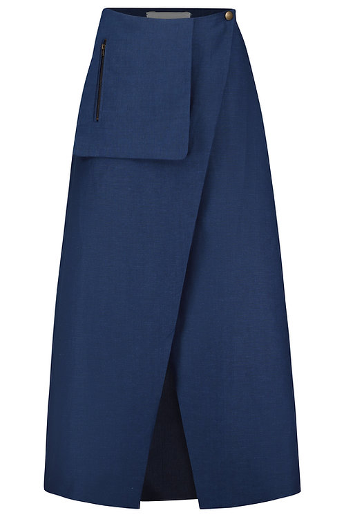Wrap Skirt blue