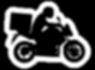Moto con el logo de escape