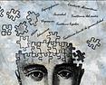 Cerebro de una persona hecho puzzle